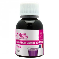 Teintez vos bougies créatives en violet avec ce colorants violet pour bougie