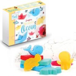 Fabriquez ses savons sur le thème de la mer en toute simplicité avec ce kit savons Océan