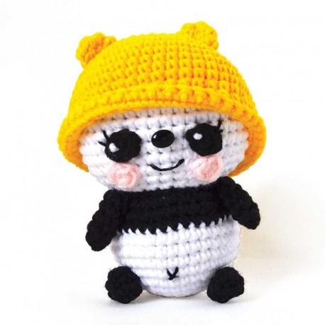 Faite comme Amigurumei votre Panda en crochet avec ce kit complet