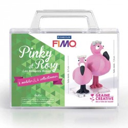 Créer deux petits flamants roses en pâte Fimo avec ce kit complet