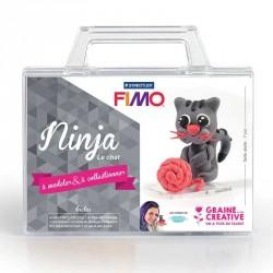 Modeler un petit chat en pâte Fimo avec ce kit complet