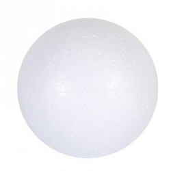 Sac 10 boules polystyrène 15 cm