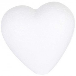Sachet 25 cœurs polystyrène 9 cm