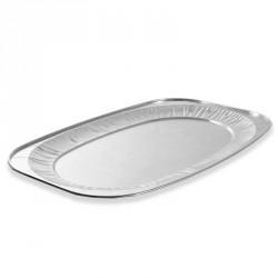 10 plateaux de présentation aluminium 55 cm