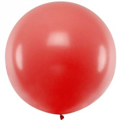 Ballon géant jumbo Rouge Pastel 1m