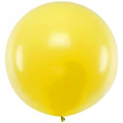 Ballon géant jumbo Jaune Pastel 1m