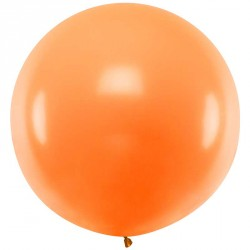 Ballon géant jumbo Orange Pastel 1m