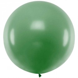 Ballon géant jumbo Vert foncé Pastel 1m