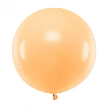 Ballon géant jumbo Pêche clair Pastel 60cm
