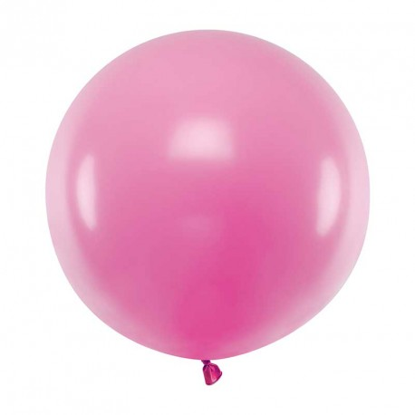 Ballon géant jumbo Fuchsia Pastel 60cm
