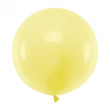 Ballon géant jumbo Jaune clair Pastel 60cm