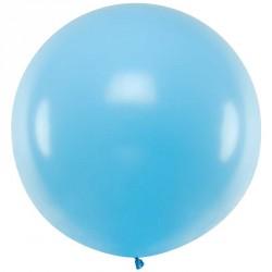 Ballon géant jumbo Bleu ciel Pastel 1m