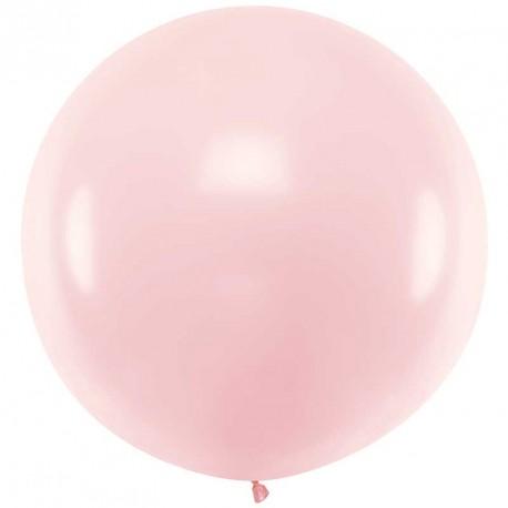 Ballon géant jumbo Rose pâle Pastel 1m