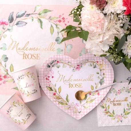 10 Assiettes Mlle Rose