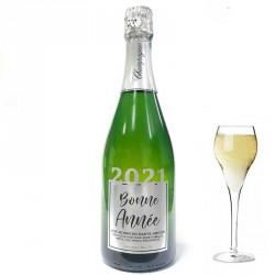 """Bouteille de Champagne """"Bonne Année"""" Argent"""