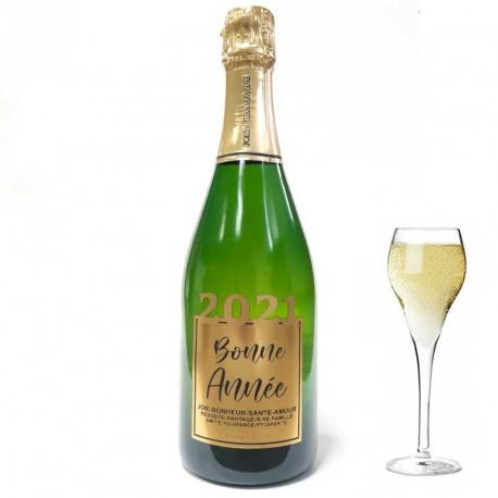 """Bouteille de Champagne """"Bonne Année"""" Or"""