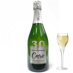 Personnalisez une bouteille de champagne pour ces 30 ans, facile chez Dragées Anahita