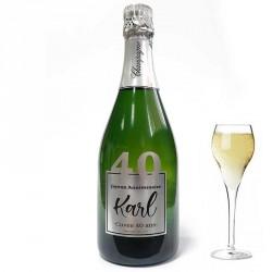 Personnalisez une bouteille de champagne pour ces 40 ans, facile chez Dragées Anahita