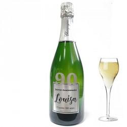 Personnalisez une bouteille de champagne pour ces 90 ans, facile chez Dragées Anahita
