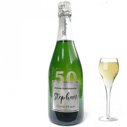 Personnalisez une bouteille de champagne pour ces 50 ans, facile chez Dragées Anahita