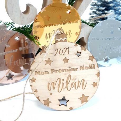 """Boule de Noël """"Mon Premier Noël"""" personnalisée"""