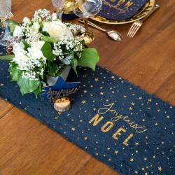 Chemin de table marine étoile Or pour décorer avec style, élégance et originalité votre table.