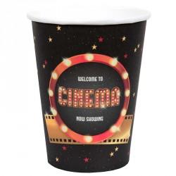 10 Gobelets en carton Cinéma