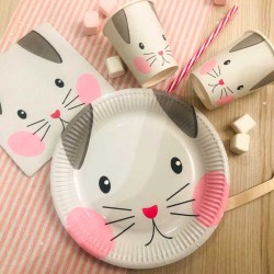 6 Assiettes Chat
