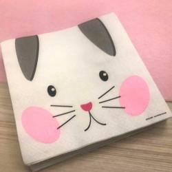 20 serviettes Chat