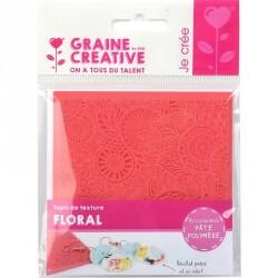 Tapis de texture 9x9cm - floral
