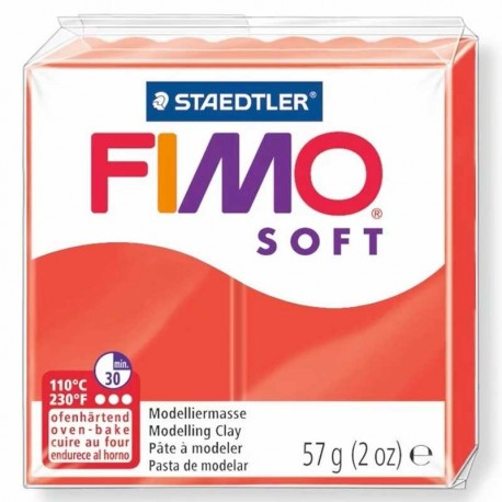 Pâte Fimo Sof rouge indien 57g