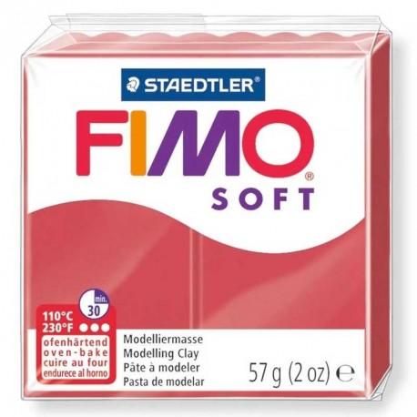 Pâte Fimo Soft rouge cerise 57g