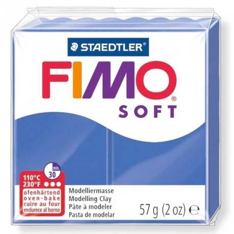 Pâte Fimo Soft bleu brillant 57g