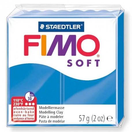 Pâte Fimo Soft bleu pacific 57g