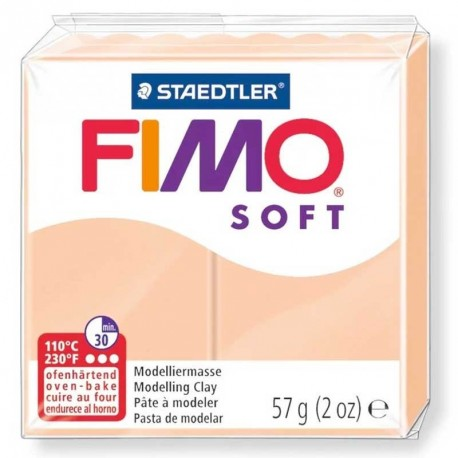 Pâte Fimo Soft rose pâle 57gr