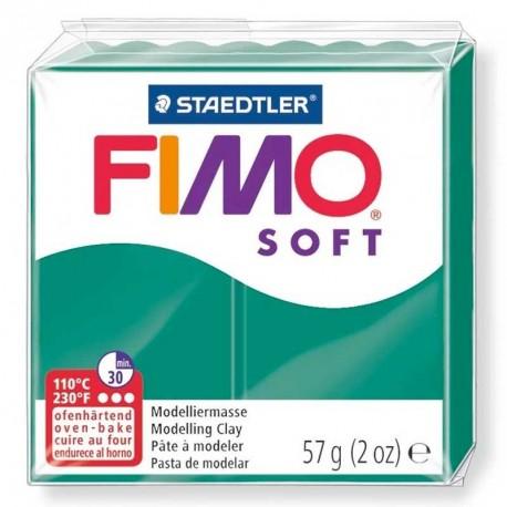 Pâte Fimo Soft vert émeraude 57g