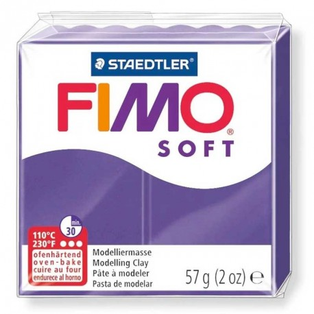 Pâte Fimo Soft prune 57g