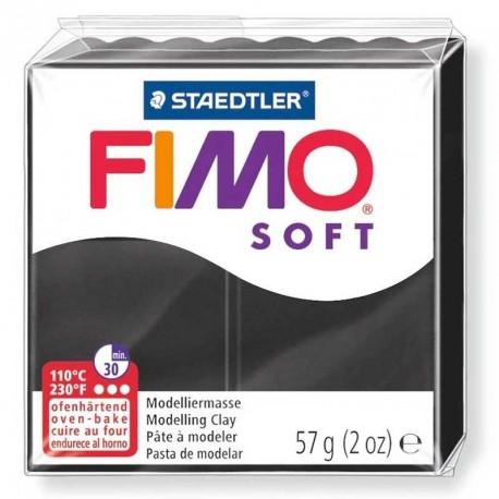 Pâte Fimo Soft noir 57g