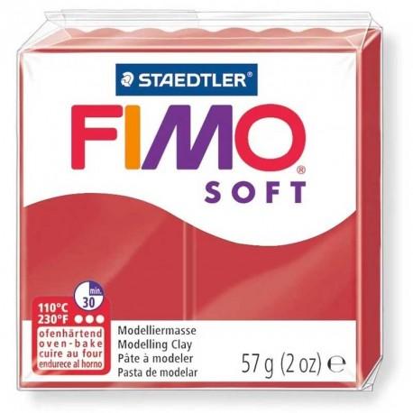 Pâte Fimo Soft rouge noël 57g