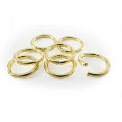 Sachet de 20 anneaux brises coloris or 7mm