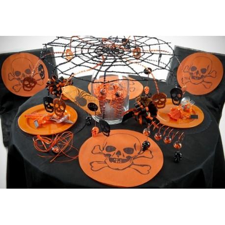 Set de table halloween orange