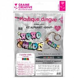 Kit plastique dingue alphabet graff
