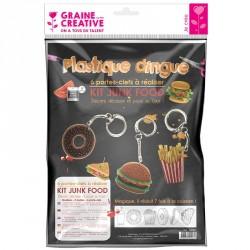 Kit plastique dingue porte-cles junk food