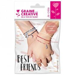 Kit bracelets perles rocailles breloques best friends