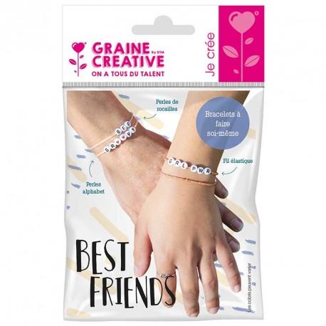 Kit bracelets a messages perles alphabet best friends