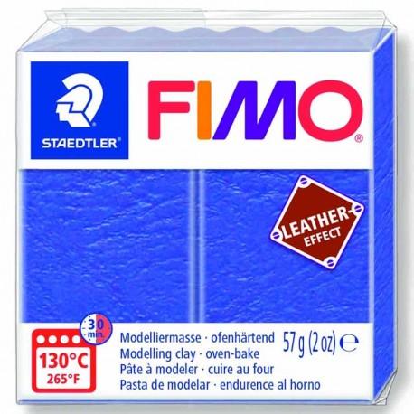 Pâte Fimo Effet Cuir couleur bleu marine