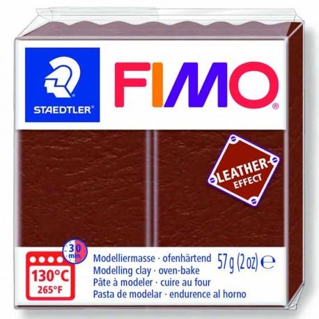 Pâte Fimo Effet Cuir couleur marron