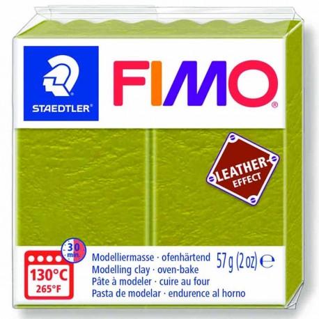 Pâte Fimo Effet Cuir couleur vert olive