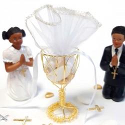 Contenant métal Calice or pour communion
