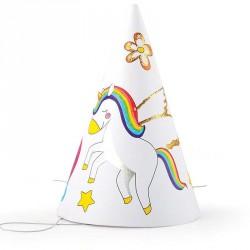 Sachet de 6 chapeaux festifs en carton à décorer